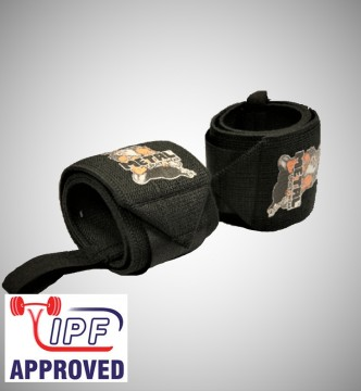 Metal Black wrist wraps